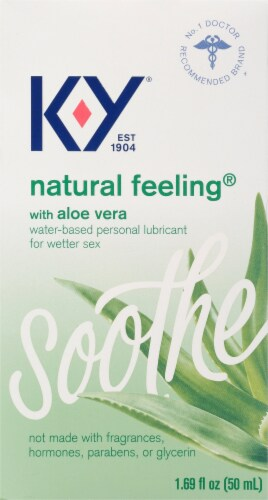 K-Y Natural Feeling Water Based Personal Lubricant with Aloe Vera Perspective: front