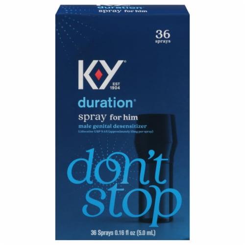 K-Y Duration Spray Male Genital Desensitizer Perspective: front
