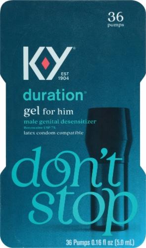 K-Y Duration Gel Male Genital Desensitizer Perspective: front