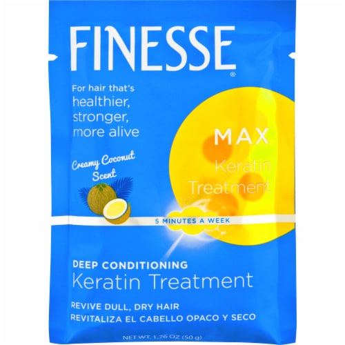 Finesse Max Creamy Coconut Scented Deep Conditioning Keratin Hair Mask Perspective: front