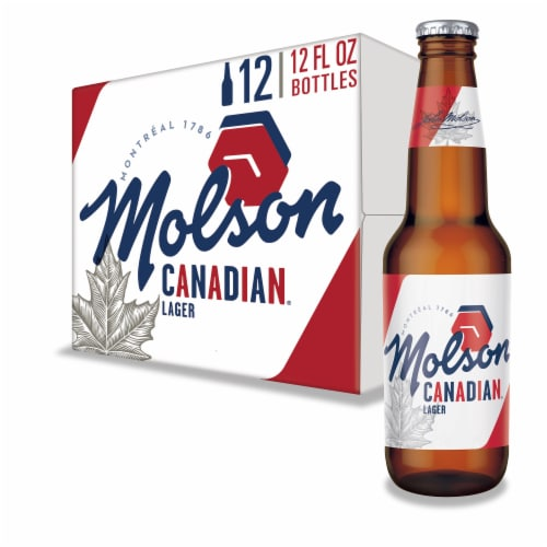 Molson Canadian Lager Beer Perspective: front