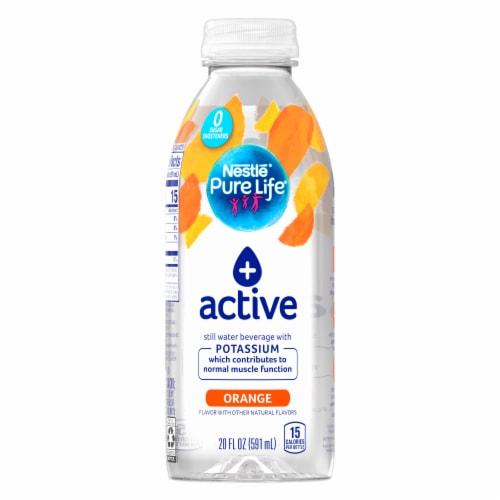 Nestle Pure Life Active Orange Purified Still Water Perspective: front