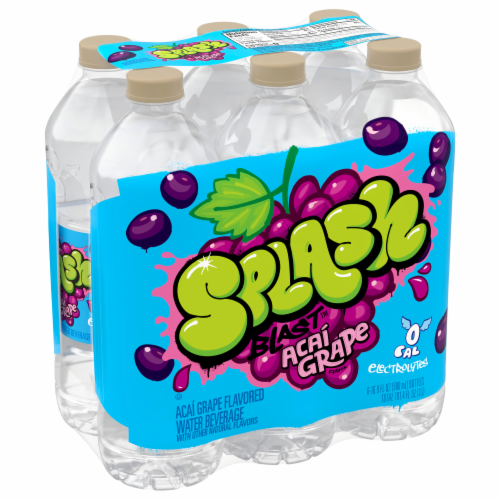 Nestle Splash Acai Grape Flavored Enhanced Water Perspective: front