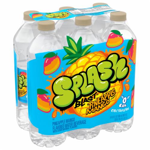 Nestle Splash Natural Pineapple Mango Flavored Water Beverage Perspective: front