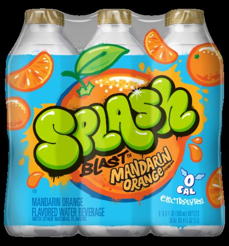Nestle Splash Mandarin Orange Flavored Enhanced Water Perspective: front