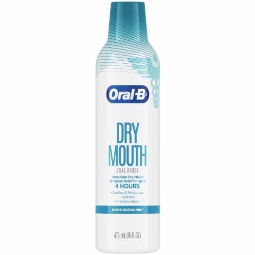 Oral-B Dry Mouth Moisturizing Mint Special Care Oral Rinse Perspective: front