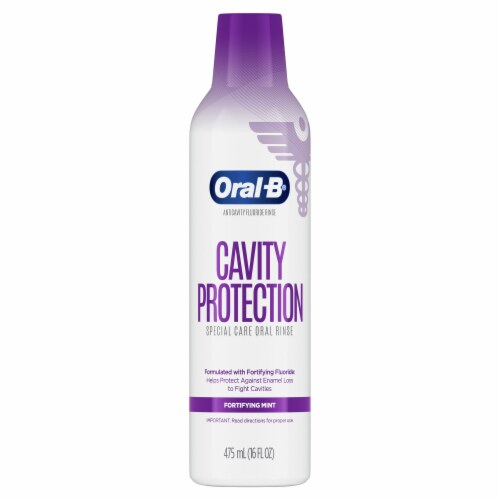 Oral-B Cavity Protection Fortifying Mint Special Care Oral Rinse Perspective: front
