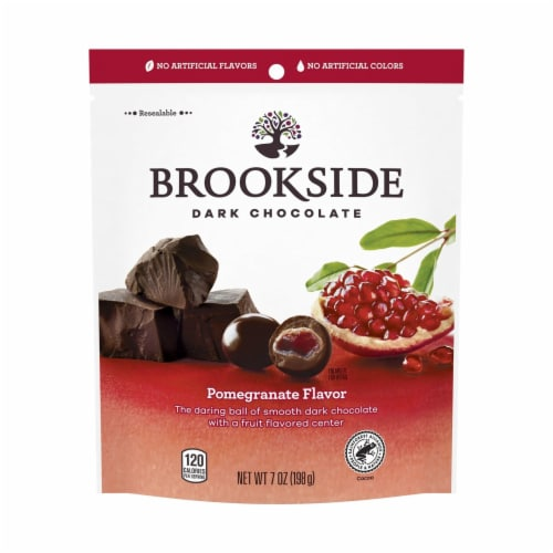 Brookside Dark Chocolate Pomegranate Flavor Perspective: front