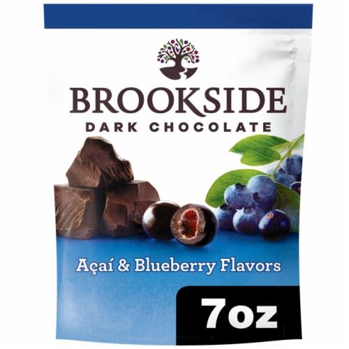 Brookside Dark Chocolate Acai & Blueberry Flavored Dark Chocolate Perspective: front