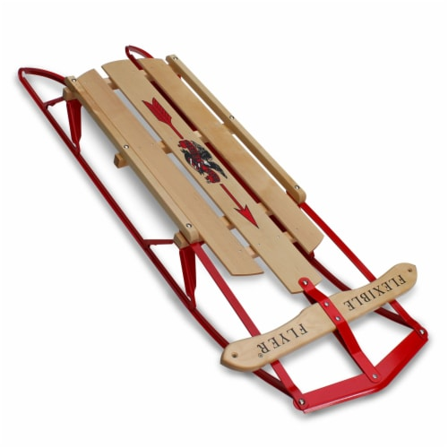 Paricon 1042 Flexible Flyer Metal Runner Steel & Wood Snow Slider Sled, 42 inch Perspective: front