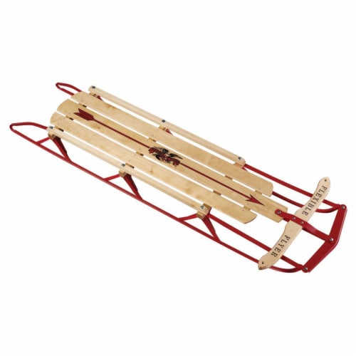 Paricon 1054 Flexible Flyer Metal Runner Steel & Wood Snow Slider Sled, 54 inch Perspective: front