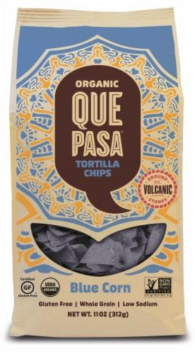 Que Pasa Organic Blue Corn Tortilla Chips Perspective: front