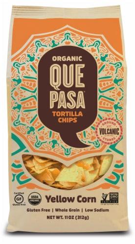 Que Pasa Organic Yellow Corn Tortilla Chips Perspective: front