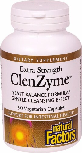 Natural Factors Extra Strength ClenZyme™ Vegetarian Capsules Perspective: front