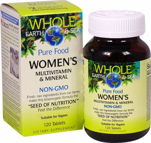 Natural Factors  Whole Earth & Sea® Women's Mutlivitamin & Mineral Perspective: front