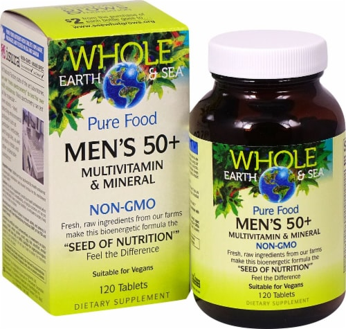 Natural Factors  Whole Earth & Sea® Men's 50 plus Mutlivitamin & Mineral Perspective: front