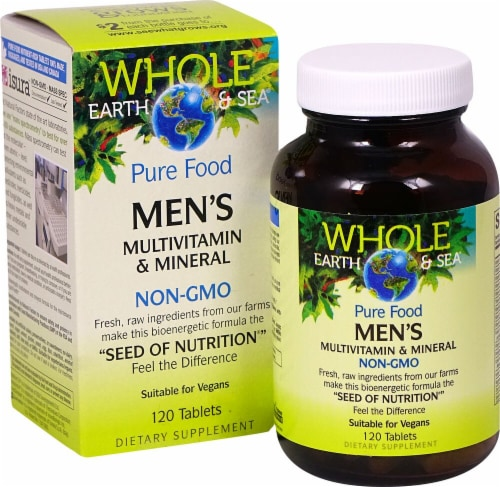 Natural Factors  Whole Earth & Sea® Men's Mutlivitamin & Mineral Perspective: front