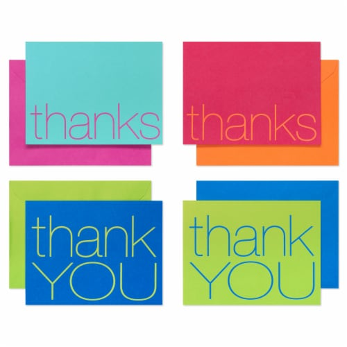 American Greetings Bold Multicolored Thank-You Cards with Envelopes Perspective: front