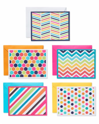 American Greetings Bright Pattern Cards with Colored Envelopes Perspective: front