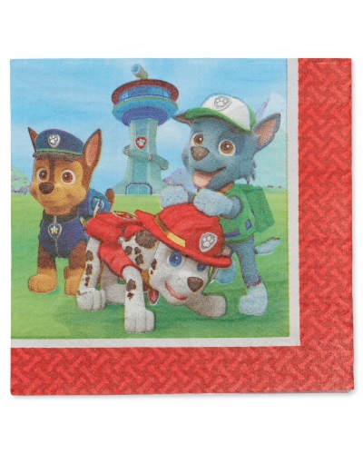 American Greetings Paw Patrol Paper Lunch Napkins Perspective: front