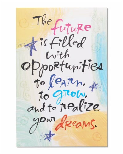 American Greetings Future Graduation Greeting Cards with Glitter Perspective: front