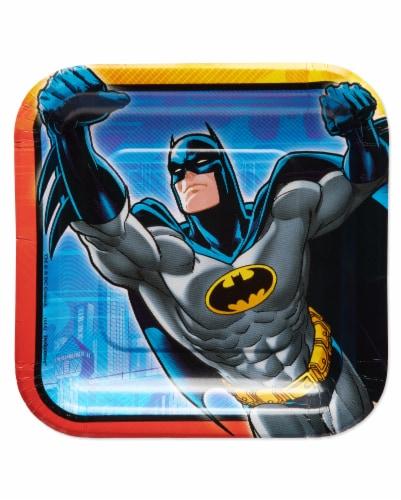 American Greetings Batman Disposable Paper Dessert Plates Perspective: front