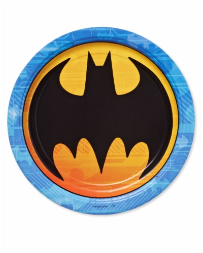 American Greetings Batman Disposable Paper Dinner Plates Perspective: front