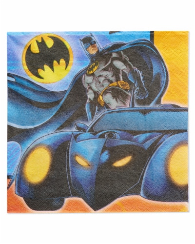 American Greetings Batman Paper Lunch Napkins Perspective: front
