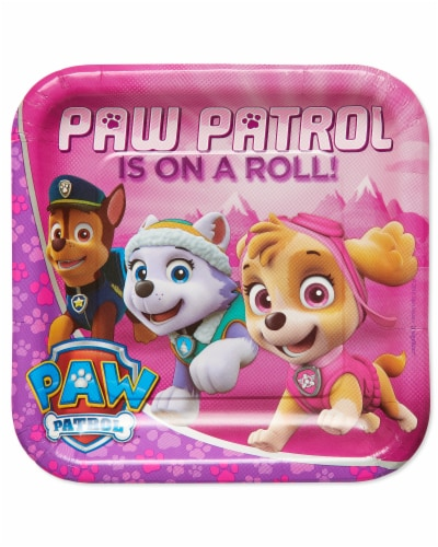 American Greetings Paw Patrol Disposable Paper Dinner Plates Perspective: front
