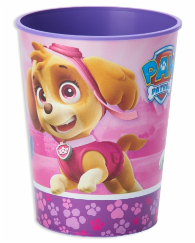 American Greetings Paw Patrol Pink Reusable Plastic Party Cups Perspective: front