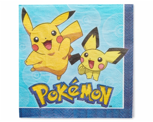American Greetings Pokemon Disposable Paper Lunch Napkins Perspective: front