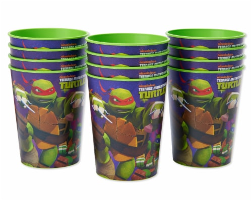 American Greetings Teenage Mutant Ninja Turtle Reusable Plastic Party Cups Perspective: front