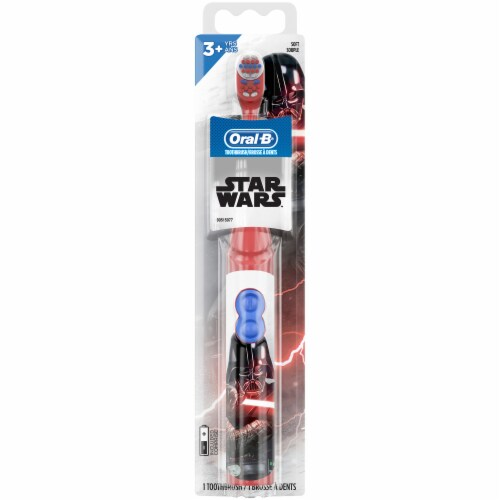 Oral B Kids Battery Toothbrush featuring Star Wars Soft Bristles for Kids 3+ Perspective: front