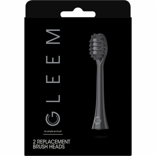 Gleem Black Toothbrush Head Refills Perspective: front