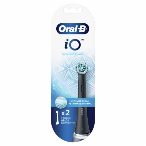Oral-B® Black Power Toothbrush Head Refills Perspective: front
