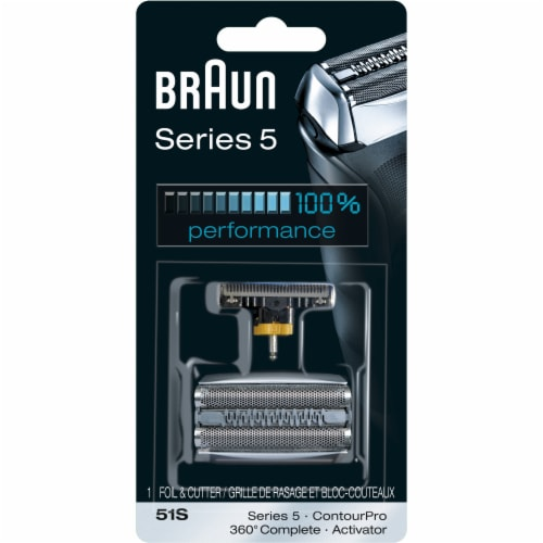 Braun Series 5 51S Foil & Cutter Electric Shaver Replacement Perspective: front