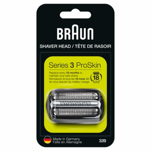 Braun Series 3 32B Replacement Head Perspective: front