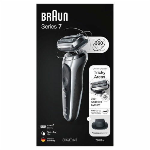 Braun Series 7 360 Flex Silver Men's Shaver Kit Perspective: front