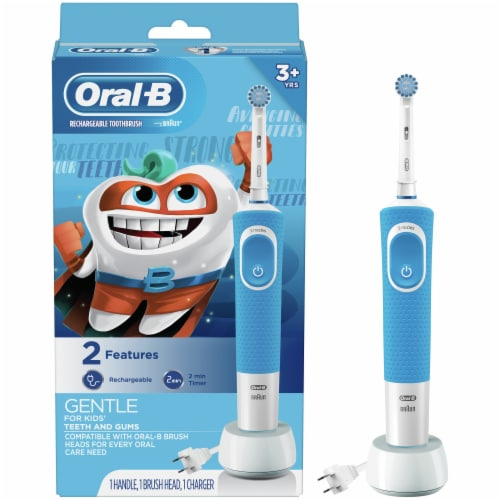 Oral-B Kids' Gentle Rechargeable Toothbrush Perspective: front