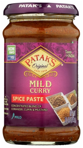 Patak Mild Curry Spice Paste Perspective: front