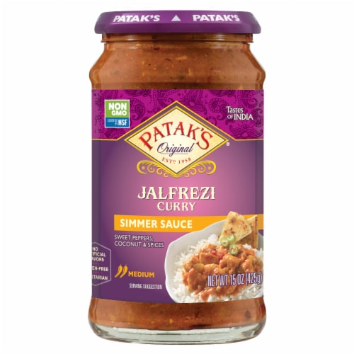 Patak Jalf'rezi Cooking Sauce Perspective: front