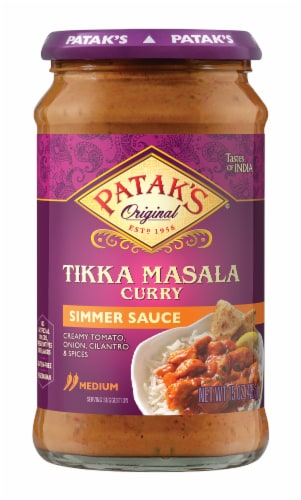 Patak's Tikka Masala Curry Simmer Sauce Perspective: front