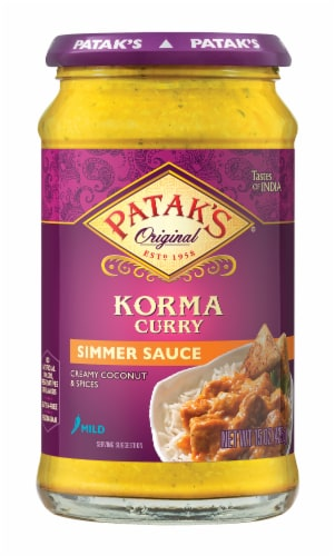 Patak's Mild Korma Curry Simmer Sauce Perspective: front