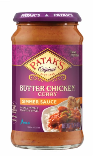 Patak's Butter Chicken Simmer Sauce Perspective: front