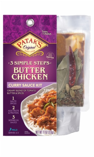 Patak's Butter Chicken Curry Sauce Kit Perspective: front