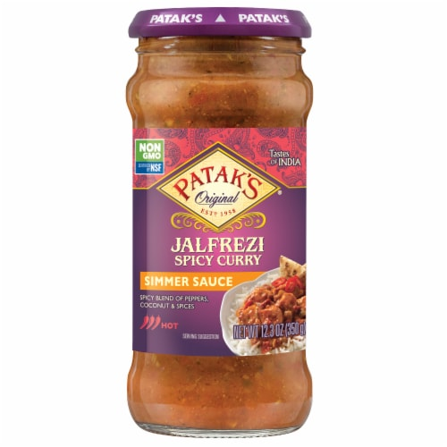 Patak's Jalfrezi Spicy Curry Simmer Sauce Perspective: front