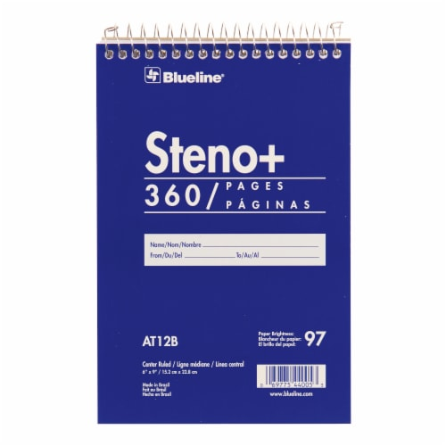 Blueline Steno + Spiral Top Notebook Perspective: front