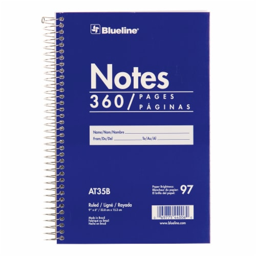 Blueline Ruled Wirebound Notebook - 360 Sheets Perspective: front