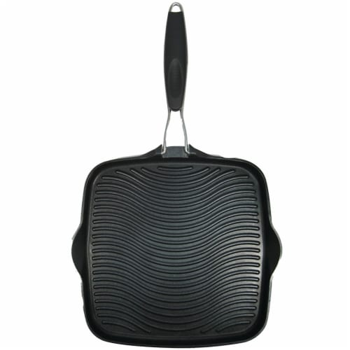 Starfrit 10 x 10 in. Grill Pan with Foldable Handle Perspective: front