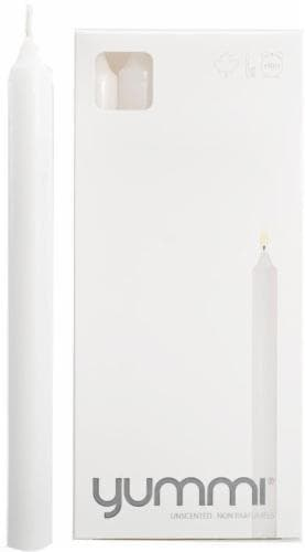 Yummi Unscented Formal Candles - 10 Pack - White Perspective: front